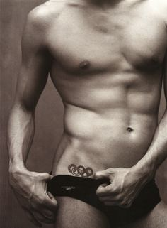 Holy mother of Michael Phelps. Thank goodness his face is cut off. That would have ruined it.