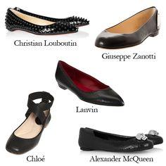 Black Swan Ballet Flats