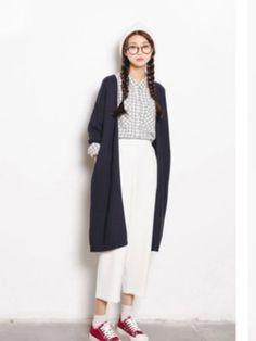 80ff528219 Modă Asiatică, Îmbrăcămintea Zilei, Tricotat, Pulover, Jachete, Outfit