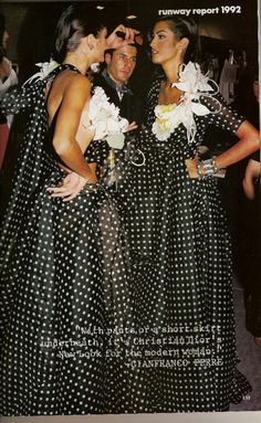 Vogue US, 1992Models : Helena Christensen and Yasmeen Ghauri