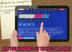 Check a box off your todo list for the week & register for CampaignTech at http://www.campaigntechconference.com/register