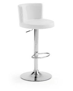 Stijlvolle barstoel van hoge kwaliteit met een comfortabele ronde zitting voor een optimaal zitcomfort. Met de traploze hoogteverstelling zet je deze barkruk op de gewenste hoogte, plaats je voeten op de steun en geniet je van lange gezellige avonden aan je bar of kookeiland. Leverbaar in zwart, wit