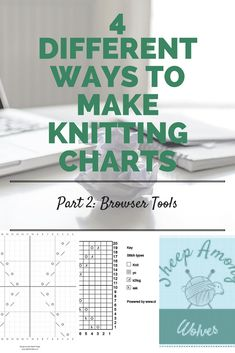 4 different ways to make knitting charts p2