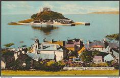 St Michael's Mount From Marazion, Cornwall, c.1950s - Dearden & Wade Postcard