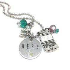 Nerd jewelry, geek jewelry, geek necklace, nerd necklace, gift for ...
