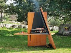 Barbecue a carbone in acciaio inox MIKADOFOCUS - Focus