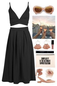 """Rosé nights"" by brigi-bodoki ❤ liked on Polyvore featuring ALPHABET BAGS, Boohoo, LC Lauren Conrad, Acne Studios, Stuart Weitzman, Christian Dior, Smashbox and Cara"