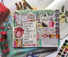 Springtime Daily Art Journal Page