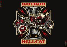 Hotrod Hellcat Designs by David Vicente Vintage Signs, Vintage Posters, Rockabilly Art, Automotive Logo, Garage Art, Car Posters, Car Drawings, Cycling Art, Pin Up Art