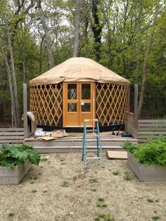 "Interesting idea for a private space in a ""yurt.""      Pinned from 7 Best Sources for Yurt Kits"