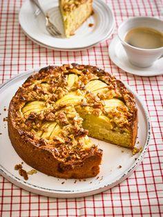 Apfelkuchen mit Walnuss - Kruste