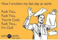 Last day of work! ✌️ haha if only that wasnt rude and inappropriate to say to the customers.... haha