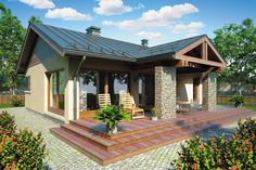 Locuinte pentru o familie cu un copil - Case practice Small House Plans, House Floor Plans, Custom Home Designs, Custom Homes, Small Bungalow, Rural House, Story House, Traditional House, Modern