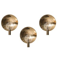 Hans-Agne Jakobsson Set of Three Wall Lamps Model V-180 | From a unique collection of antique and modern wall lights and sconces at https://www.1stdibs.com/furniture/lighting/sconces-wall-lights/