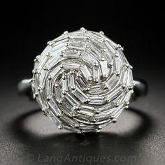 Baguette Diamond Cocktail Ring - 10-91-6953 - Lang Antiques