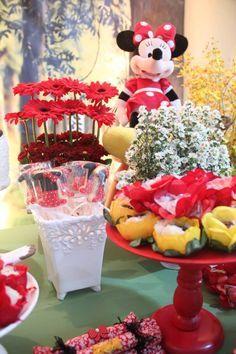 Decoração Minnie no Bosque – By Donna Caramella – Inspire sua Festa ®