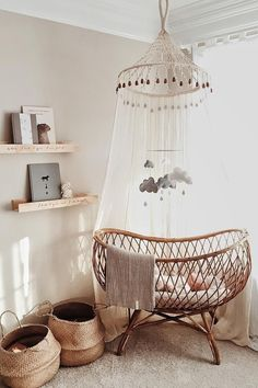 Tablet 😍 Related posts: Babyzimmer - saansh - by sandra pietras Baby Nursery: Easy .Black and White Boho Safari Nursery with Ikea Light . baby room model fitted out in bohemian chic style with curtain . Baby Nursery Decor, Nursery Neutral, Nursery Room, Girl Nursery, Boho Nursery, Baby Decor, Baby Room Diy, Diy Baby, Natural Nursery