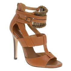 Update your new-season wardrobe with these glamorous and incredibly feminine sandals featuring crisscrossing straps, metal pieces around the ankle, and back zip.- Heel Height: 4.5 inches http://www.amazon.com/dp/B0050GX3OY/?tag=icypnt-20