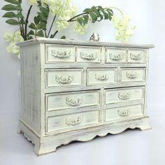 CHIC JEWELRY BOX White Jewelry Box Ornate Wooden by shabbyshores