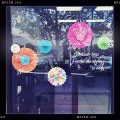Summer window display.  #summer hair #OpusHairdressing