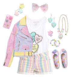 """Casual fairy kei"" by sweetpasteldream ❤ liked on Polyvore featuring women's clothing, women, female, woman, misses and juniors"