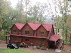 39 fireman 39 s dream 39 39 5 bdr 3ba beautiful log home hot tub wifi we doggies vacation rentals - Small log houses dream vacations wild ...