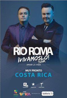 El concierto de Río Roma en Costa Rica trae sus románticas canciones el 9 de junio Centro de Eventos Kolbi Parque Viva con su Vivamoslo Tour. adondeirhoy.com la pagina web #1 en eventos y conciertos. #conciertos #costarica #conciertoscostarica #adondeirhoy #estoespuravida #concierto #vivilamusica #puravida #SiguelaMusica #SigueLaMúsica #aguilasarriba