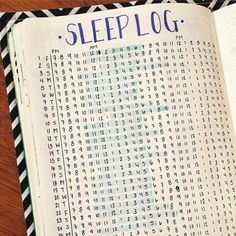 I should start putting a sleep log into my pages. I think I need it.