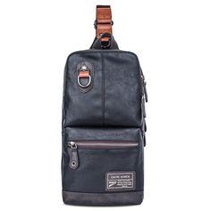 Mesh Spliced Multi Zips Crossbody Bag