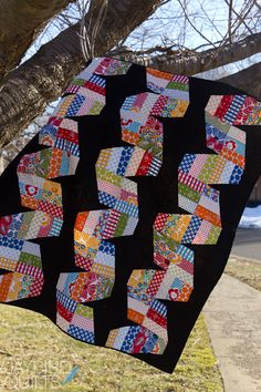 Fast Forward | Jaybird Quilts--neat use of strip blocks and corner triangles. More I look, more I like.