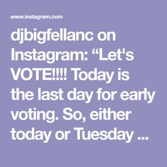 "djbigfellanc on Instagram: ""Let's VOTE!!!! Today is the last day for early voting. So, either today or Tuesday 11.5.19, CAST YOUR VOTE FOR JOSHUA GUNN! I believe in…"" Cast Your Vote, Early Voting, Tuesday, Believe, It Cast, Events, Let It Be, Instagram, Faith"