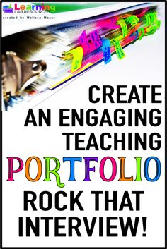 Learn tips and tricks for creating the best teaching portfolio for job interviews. Teaching Jobs, Teaching Time, Teaching Resume, Teaching History, Teaching Ideas, First Year Teachers, Jobs For Teachers, Music Teachers, Music Education