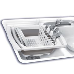 Starfrit Collapsible Dish Drainer in Gray - Beyond the Rack