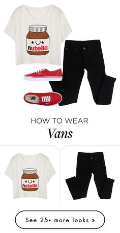 """""""NUTELLA"""" by stars-in-the-moon on Polyvore featuring moda, Cheap Monday e Vans"""