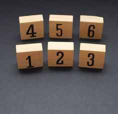 Wooden number blocks 16 vintage wood by LostPropertyVintage