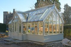Chelwood Wooden Greenhouse. Too much? Too big? I think not!!!