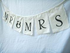 Wedding Bunting Mr & Mrs Flags