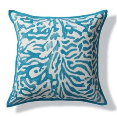 Handpainted Tiger Outdoor Pillow- Frontgate