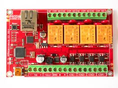 Prodino board - Arduino Leonardo compatible board, with Ethernet, relays, RS-485 and 1-wire