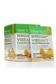 Vibrant Health  Vibrant Orange Pineapple PlantBased Whole Food Nutrition Made with Organic Ingredients 15 packets FFP