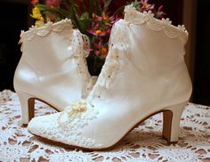awesome wedding shoes. Very Dr. Quinn.