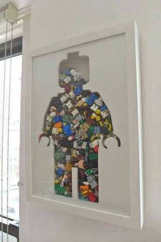 I should do this! hang it in the hallway and fill it with Lego that's left on…