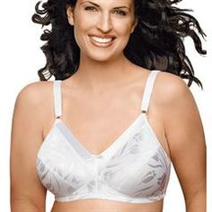 e4e3a40836db5 Just My Size® Delustered Wirefree Bra (1960) in White Just My Size