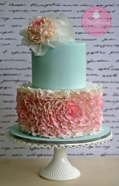Fondant Rosette Ruffles Cake! - McGreevy Cakes