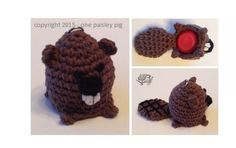 Beaver eos Lip Balm Holder  PDF CROCHET PATTERN by OnePaisleyPig