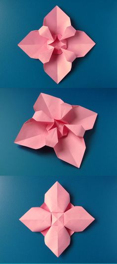 Origami flowers how to doorigami pinterest origami flower fiore quadrato square flower origami from a sheet of copy paper 21 mightylinksfo