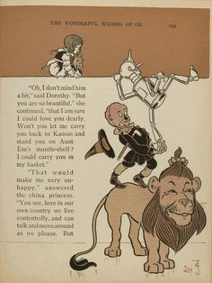 First Edition, The Wonderful Wizard of OZ, 1900, written by L. Frank Baum and illustrated by W.W. Denslow