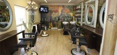 Peter Gotthard Ladies Hairdressing Salon & Barber Harrogate shows individuality with it's wall decoration.