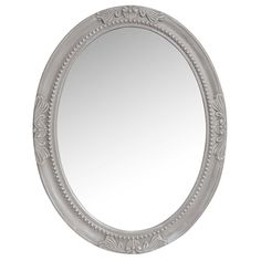 Ovaler Spiegel mit Zierleisten beige ...