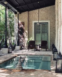 We were lucky to try out the great Coqui Coqui Tulum boutique hotel in 2013 before their beach front property got taken back by the Mexican government who Small Backyard Pools, Small Pools, Boutique Hotels, Porches, Kleiner Pool Design, Pergola, Mini Pool, Villa, Outdoor Living